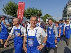 Aargauerdelegation am Fète des Vignerons in Vevey
